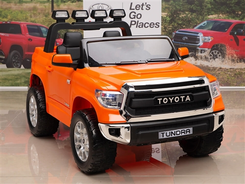 Kids 12V Toyota Tundra Ride On Truck Orange