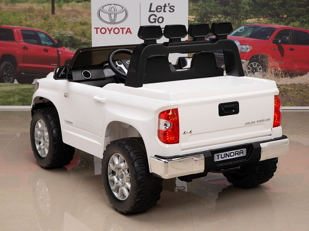 3af16ddae 12V Kids Battery Powered Remote Control SPECIAL EDITION Toyota Tundra Ride  On Truck - White