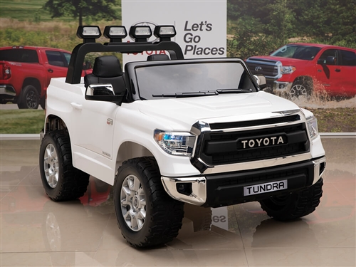 Kids 12V Toyota Tundra Ride On Truck White