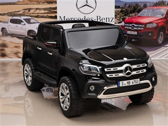 12V Mercedes Benz X Class Kids Ride On Truck Black