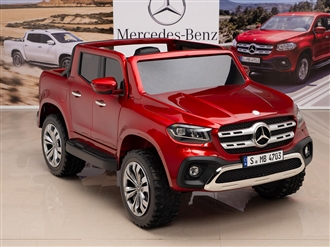 12V Mercedes Benz X Class Kids Ride On Truck Red