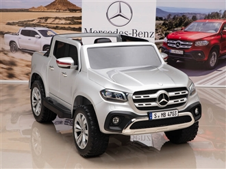12V Mercedes Benz X Class Kids Ride On Truck Silver
