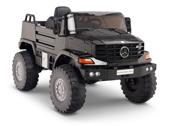 12V Mercedes Zetros One Seat Ride On Truck Black