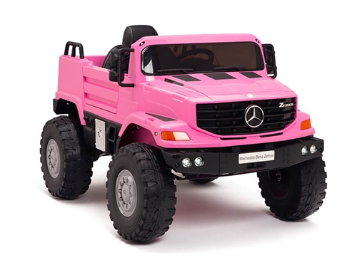 12V Mercedes Zetros One Seat Ride On Truck Pink