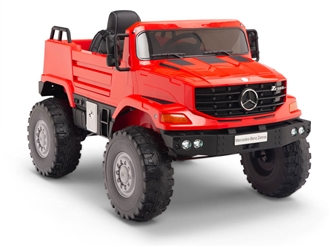 12V Mercedes Zetros One Seat Ride On Truck Red