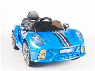 Kids 12V Battery Powered Ride On Car with Remote and MP3 - Blue