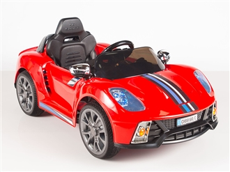 Kids 12V Battery Powered Ride On Car with Remote and MP3 - Red