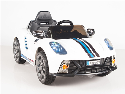 Kids 12V Battery Powered Ride On Car with Remote and MP3 - White