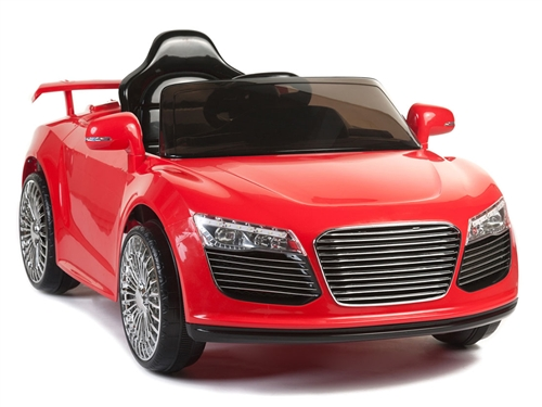 12V Audi R8 Style Red Chrome Wheels