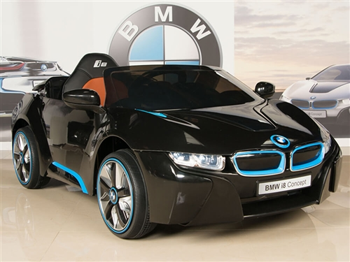 12V BMW i8 Black Ride On Car