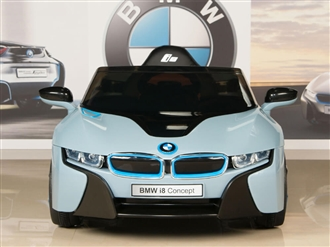 12V BMW i8 Blue Ride On Car