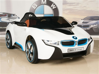 12V BMW i8 White Ride On Car