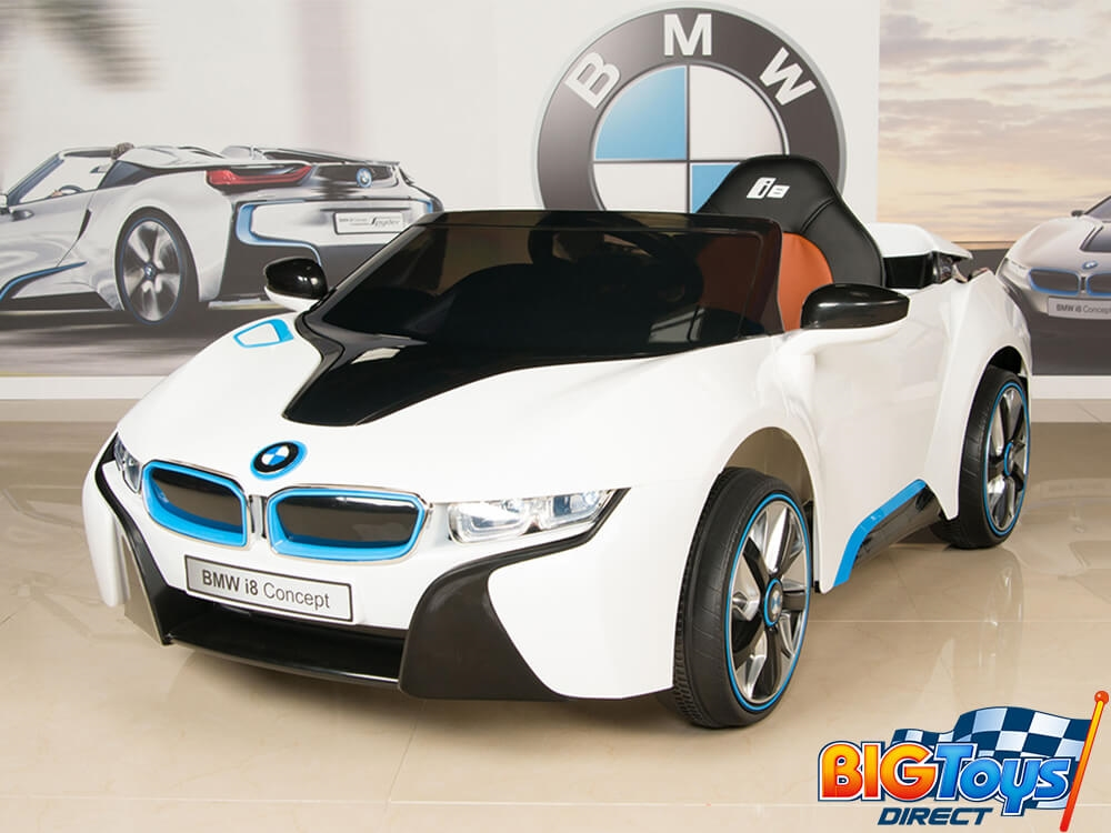 Bmw I8 12v Kids Battery Powered Ride On Car With Remote White
