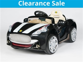 Maserati Style 12V Kids Ride On Car with Remote Control - Black