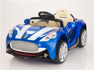 Maserati Style 12V Kids Ride On Car With Remote Control - Blue