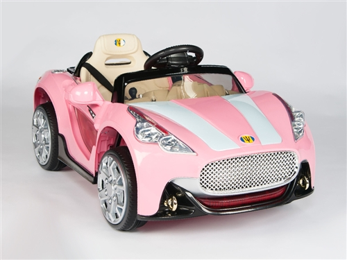 12V Battery Powered Kids Ride On Car with Remote Control - Pink