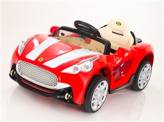 12V Kids Battery Powered Ride On Car with Remote Control - Red