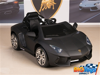 Lamborghini Aventador 12V Kids Ride On Battery Powered Wheels Car with 2.4GHz RC Remote - Black