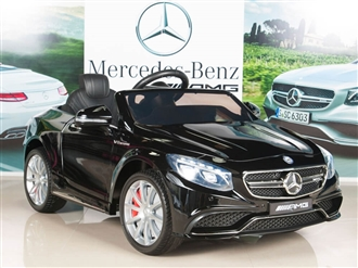 Mercedes-Benz S63 Kids 12V Electric Powered Wheels Ride On Car with RC/Remote Control Radio & MP3, Black