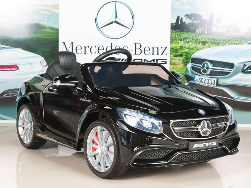 Mercedes Benz S63 Kids 12v Painted Black
