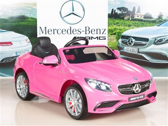Mercedes-Benz S63 12V Electric Kids Ride On Car with Remote - Pink