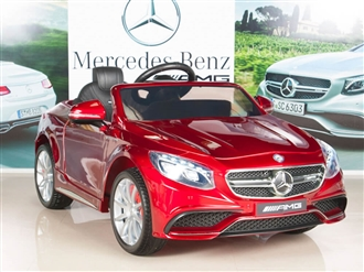 Mercedes-Benz S63 Ride on Car Kids RC Car Remote Control Electric Powered Wheels W/ Radio & MP3 Red