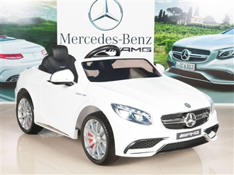 Mercedes-Benz S63 Ride on Car Kids RC Car Remote Control Electric Powered Wheels W/ Radio & MP3 White