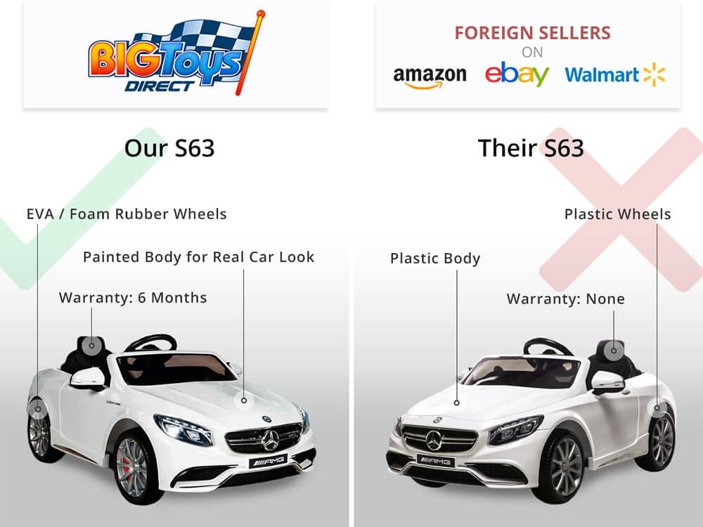 Mercedes Benz S63 Kids Ride On Car 12v Electric