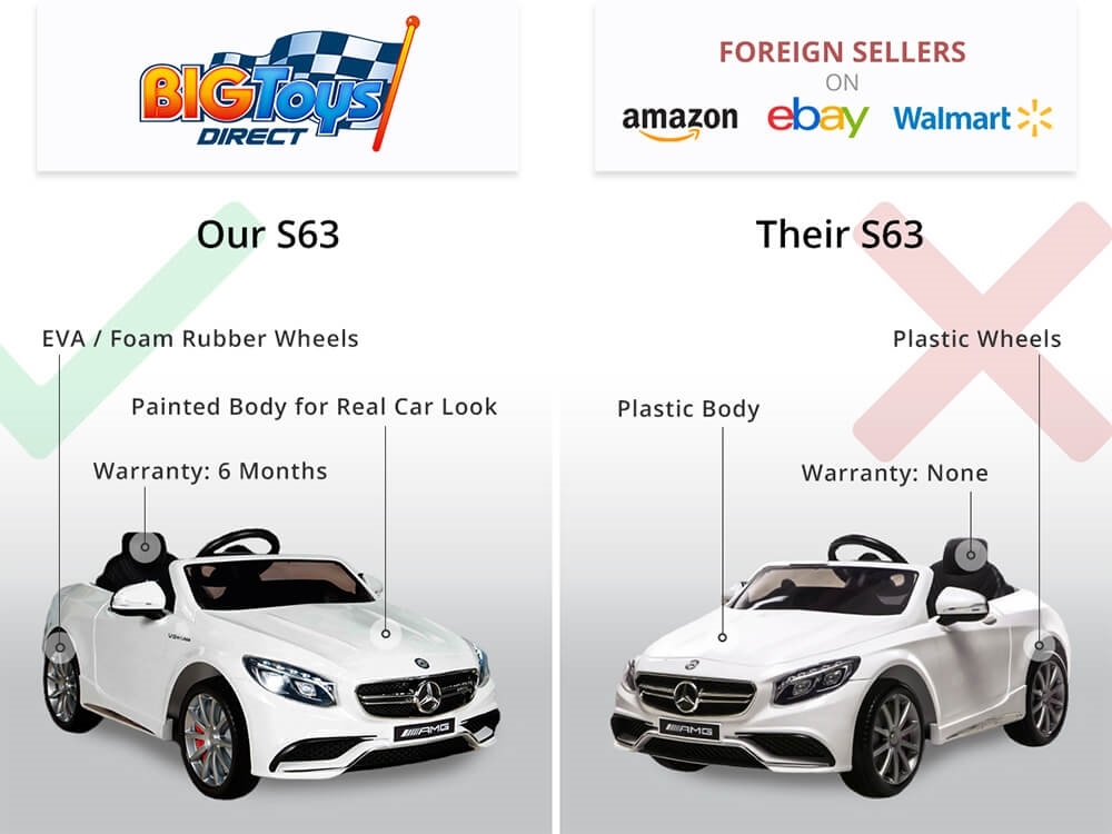 f011ac47a8c1 Mercedes-Benz S63 Kids Ride on Car 12V Electric Powered With Remote Control  ...