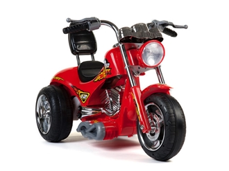 Kids 12V Red Hawk Motorcycle in Red