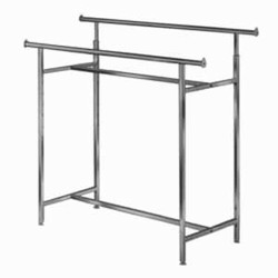 "Adjustable Double Heavy Duty ""H"" Clothing Rack"