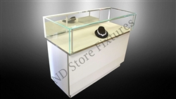 Seamless Glass Jewelry Display Case