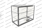 Double Aluminum Countertop Displaycase - 1301