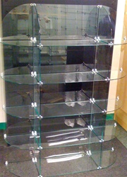 Glass Cubical Display Case Half Oval