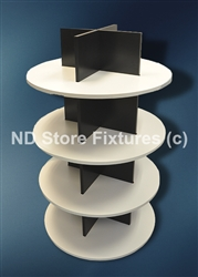 Round Display Fixture with Shelves