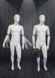 Glossy Male Egg Head Mannequin