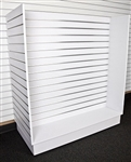 Slatwall 4ft unit with HD aluminum inserts