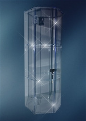 Acrylic Showcase Display Case Tall - AHBX44