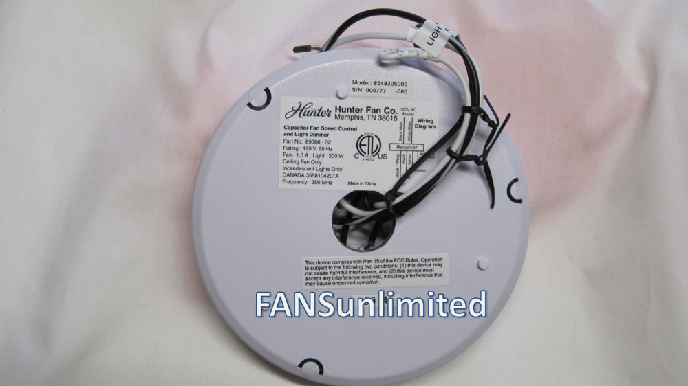 [DHAV_9290]  Hunter Fan 85068-02 Replacement Receiver | Wiring Diagram Hunter Receiver |  | Genuine OEM Fan Parts