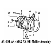 Aqua Scooter Muffler Housing