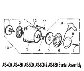 Aqua Scooter Starter Pulley Axel