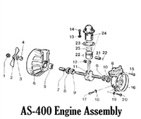 Aqua Scooter Screw. S/S. Crankcase
