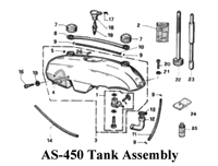 Aqua Scooter Clamp. Tank Side