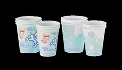Cup, 5oz. Waxes, Bubbles Design, 100/sleeve