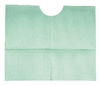 "Dental Bib, Contour 18"" x 22"", 3-Ply, Green, TIDI, 500/case"