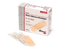 "Bandaid, 1"" x 3"" Sheer, ProAdvantage, 100/box"