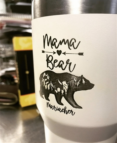 Mama Bear 30oz Stainless Steel Double Wall Tumbler
