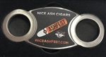 Nice Ash Cigars Logo Double Blade Perfect Cut Stainless Steel Cutter