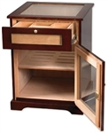 Galleria Cabinet 600 Count Humidor with Pull Drawer and Lock with Key (18 3/8 W x 18 3/8 D x 24 ...