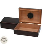 10 Count Traveler Humidor - Mahogany with Humidifier